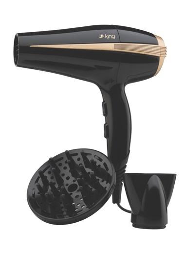 King K-427 Luna Saç Kurutma Makinesi - Siyah Siyah